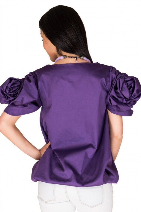 "Elegante Bluse ""PURPLE FLOWER"""