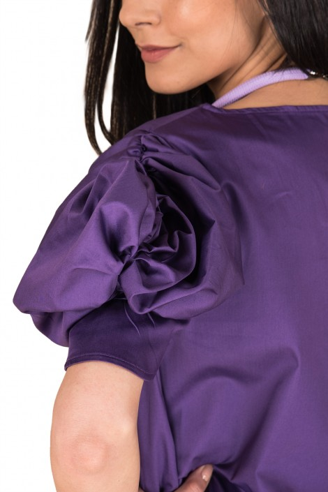 "Elegant blouse ""PURPLE FLOWER"""