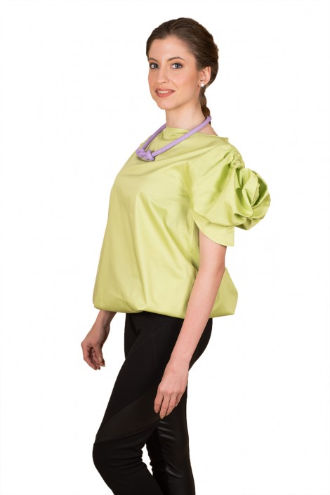 "Elegant blouse ""GREEN FLOWER"""