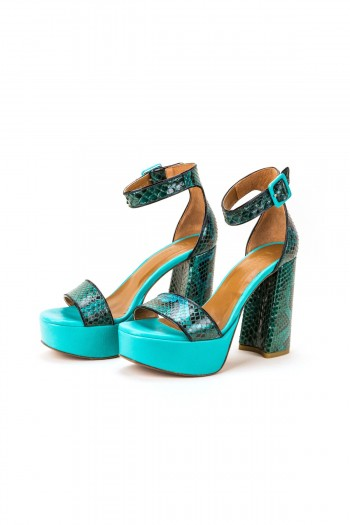 "Sandals ""Blue Extravagance"""