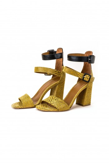 "Sandals ""Black & Yellow"""