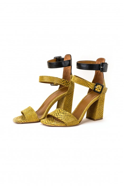 "Sandalen ""Black & Yellow"""