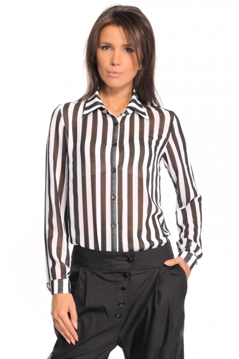 "Hemd ""Black & White Stripe"""