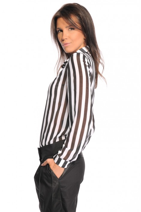 "Shirt ""Black & White Stripe"""